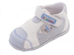 Zapatos tipo sandalia ni�os piel blanca pablosky