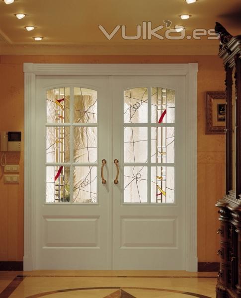 Peke toyas maestro vidriero klonos - Cristal puerta salon ...