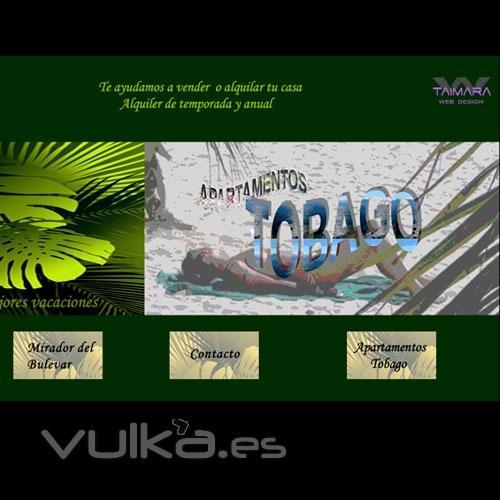 Creación de página web de turismo vacacional: www.playatobago.es