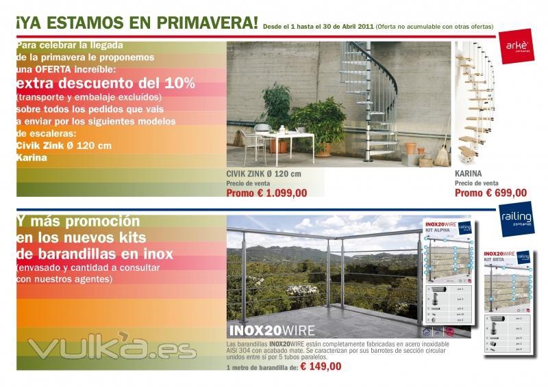 Promoci�n Abril 2011 en escaleras Fontanot y Ark�