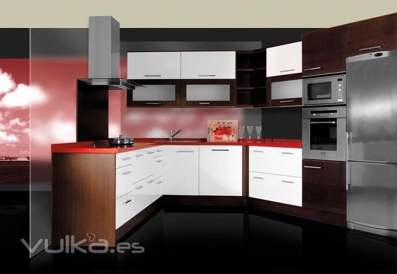Foto: http://www.in-decor.net/muebles-para-cocinas-cantabria/cocinas/62/linea...