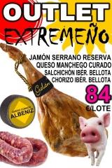 Outlet extreme�o jamon+queso+chorizo bellota+salchichon bellota