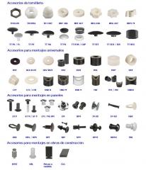 Piezas pl�sticas montajes industriales emi - tapa tornillos - casquillos y arandelas - grapas