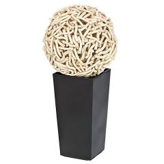 Bola de troncos naturales con maceta  en lallimona.com