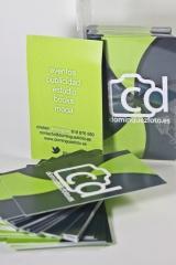 Diseño de tarjetas de visita para Cristian Domínguez en Bilbao