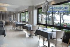 Restaurante en nuestro hotel en la costa brava. restaurante de cocina mediterr�nea  en rosas