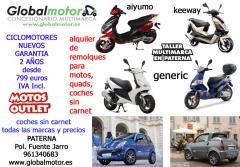 Ciclomotores y coches sin carnet en valencia