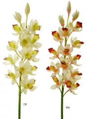 Orquideas artificiales de calidad. cymbidium artificial oasisdecor.com