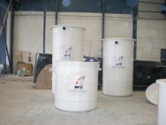 Depositos verticales de poliester reforzado con vibra de vidrio