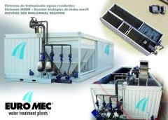 Plantas de depuracion compactas MBBR para 300,400,500 hasta 12.000 habitantes equivalentes