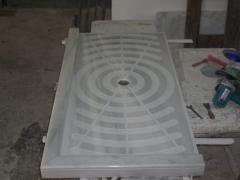 Plato de ducha blanco macael diseño.
