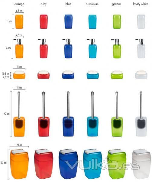 Foto spirella accesorios ba o planet para coordinar colores for Catalogo de accesorios para bano