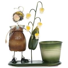 Maceta ni�a caracol con flores 20 en lallimona.com