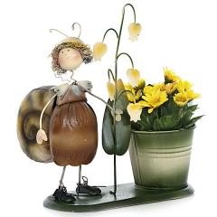 Maceta ni�a caracol con flores 20 en lallimona.com detalle1