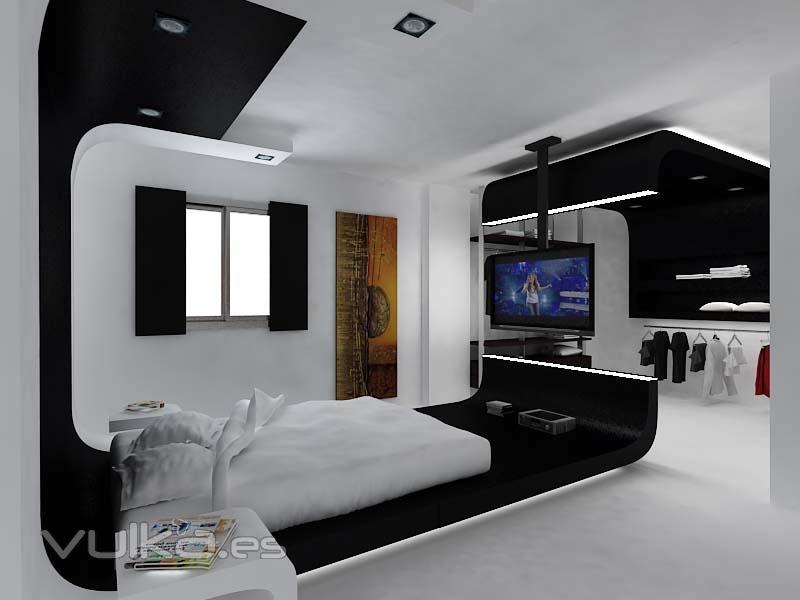 Foto dormitorio ppal con vestidor visto dise o - Diseno vivienda unifamiliar ...