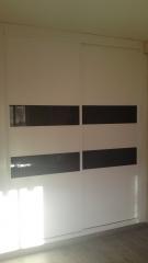Frente japonesa 5 cuadros lacado blanco cristal lacobel negro