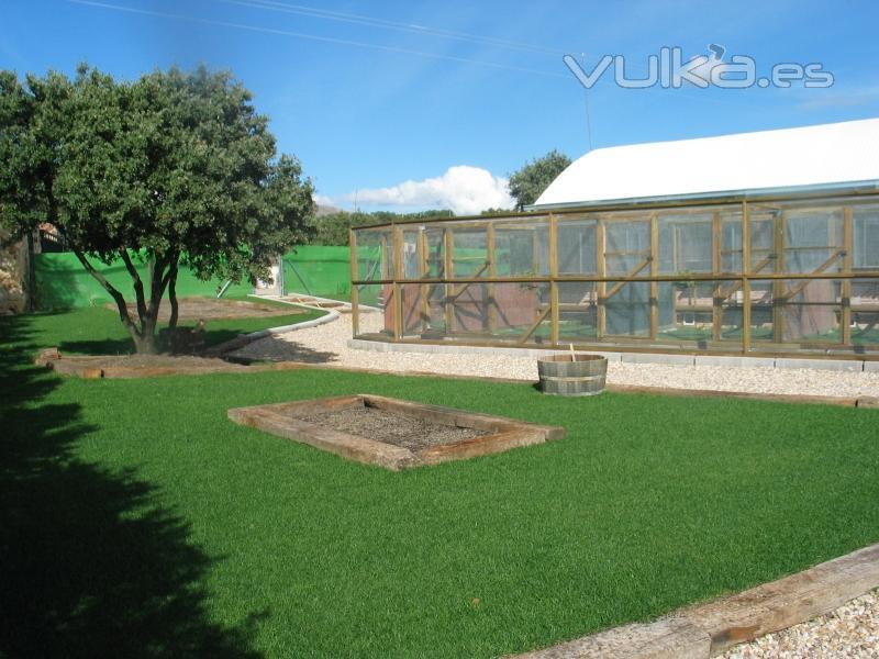 Foto los jardines para las mascotas - Jardin para perros ...