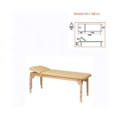 Camilla fija madera 2 cuerpos ecopostural, respaldo sup. corto elevable 40 grados, altura regulable