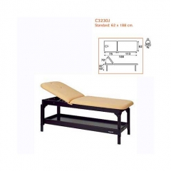 Camilla fija madera 2 cuerpos ecopostural, respaldo sup. elevable 70 grados, altura regulable 62 a 8