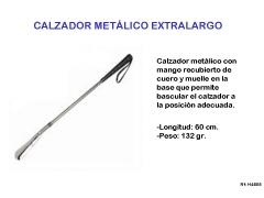 Calzador largo flexible cromado