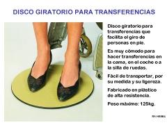 Disco giratorio para transferencias
