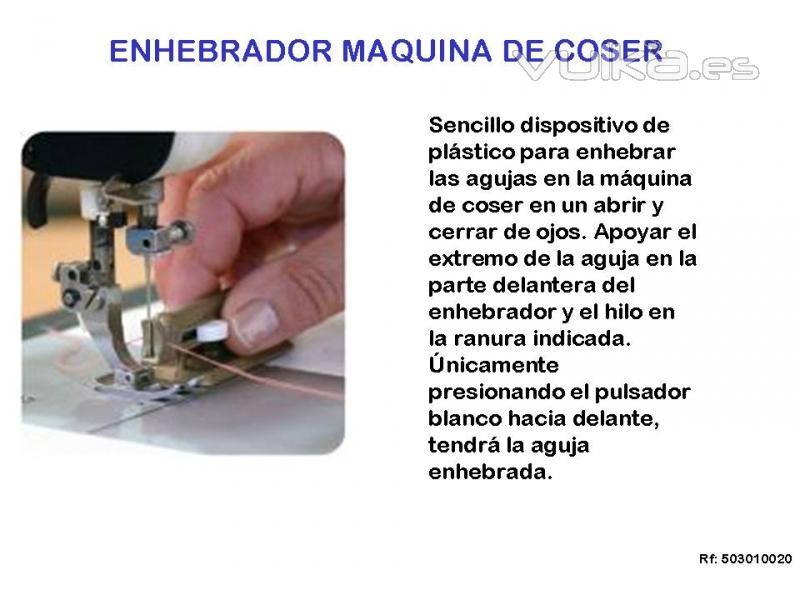 Foto: ENHEBRADOR DE AGUJAS MÁQUINA DE COSER