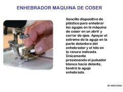 Enhebrador de agujas máquina de coser