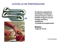 Cuchillos cocina debilidad en manos