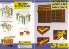 Fabricantes de encofrados tame,s.l. encofrados; cat�logo gen�rico tame,s.l. sistemas de encofrado.