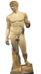 El diodore del museo de n�poles, como deber�a de estar, apoyado en la pierna derecha. lo tienen dese