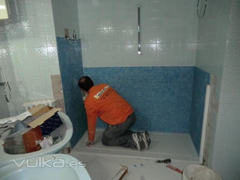 Foto cambio de ba era por plato de ducha edf alba centro murcia - Banera o plato de ducha ...