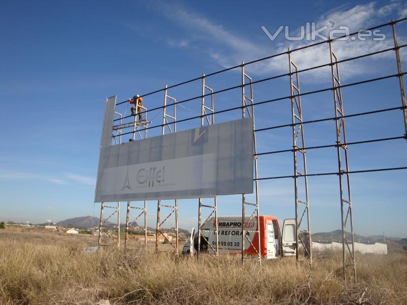 Foto montaje de vallas publicitarias de grandes dimensiones - Constructoras murcia ...
