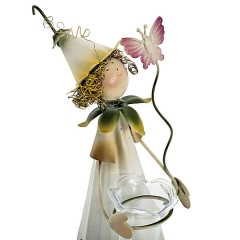 Maceta metal niño con jarron para flores 27 en lallimona.com detalle1
