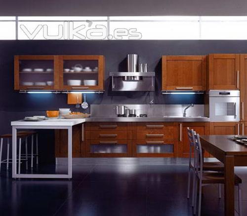 Foto mobiliario de cocina aran modelo teca for Muebles aran