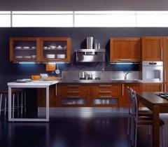 Mobiliario de cocina aran modelo teca