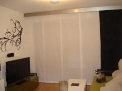 Ambiente panel japones - loneta - combinado, con galeria acero.