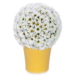 Bola flores margaritas artificiales blancas 14 en lallimona.com detalle2