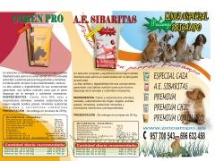 TRIPTICO 3 TIPOS DE PIENSOS PARA PERROS  ALTA CALIDAD