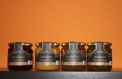 Memeladas sabores exclusivos: naranja al orujo, fresas al cava, manzana silvestre a la canela, ...