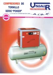 Compresores de tornillo sobre deposito con secador incorporado