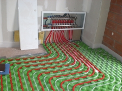 Instalacion de suelo radiante