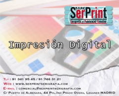Impresion digital. serprint serigrafia