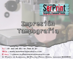 Impresion personalizacion tampografia. serprint serigrafia