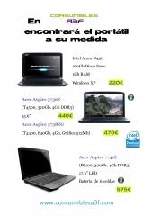 Catálogo Portátiles Acer de Consumibles A3F: www.consumiblesa3f.com