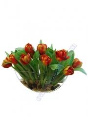 Tulipanes artificiales de calidad. centro tulipanes artificiales con agua simulada oasisdecor.com