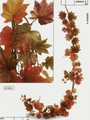 Maple artificial. guirnalda maple artificial otoñal oasisdecor.com