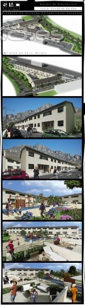 Infografía viviendas unifamiliares adosadas para Javier González Ágreda.(SMC estudio)