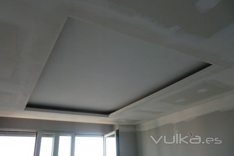 Foto foseado pladur para luces indirectas for Modelos de yeso para techos