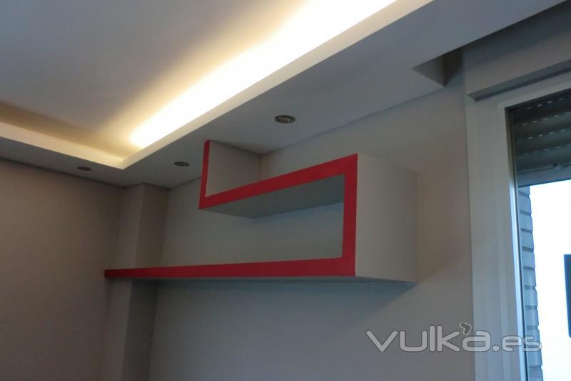 Foto balda pladur y foseado con luces indirectas for Montar pared de pladur