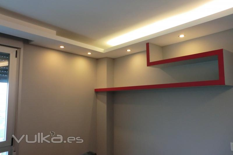 Luces Indirectas Techos Colgantes En Drywall Con Luces Indirectas - Luces-indirectas